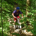 Mountain biking more than 40 miles of trails in Ohiopyle State Park