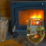 Wood stove and wine