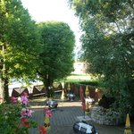 View from room 12, Gasthof Sonne, June 2013