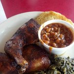 One of several $6 lunch specials, Leg Qtrs. Collard Greens and Beans