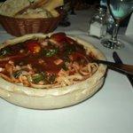 delicioso y super abundante plato de pastas en Tiziano