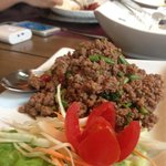 Authentic Thai Spicy Minced Beef Basil
