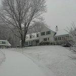Inn in winter trappings