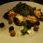 stuffed field mushrooms with melted goats cheese