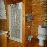 Rustic Romance Cabin bathroom