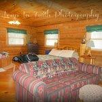 Rustic Romance Cabin open concept