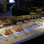 the breakfast buffet  in the Tower Lounge