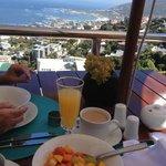More breakfast on the terrace.