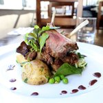 Lamb cutlets with warm potato & rocket salad