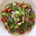Broad bean and asparagus salad