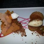Colicchio and Sons: Carrot Cake  with Vanilla ice cream