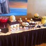 Our buffet at the landing