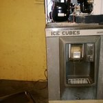 Ice machine that had been vandalized 3 months prior