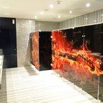 Uno de los baños de la planta baja.. muy original !!!