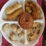 a degustation plate of russian specialities