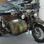 Antique motorcycle with sidecar!