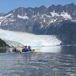 Kayaking to Aialik Glacier