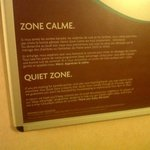 they have a quiet area for room no noise til 10am