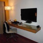 Desk area in room 201