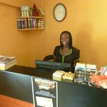 Front Desk with our Spa Manager