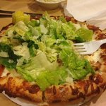 Chicken Caesar Salad Pizza -- try it, it's awesome!