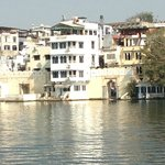 Jheel G.H. Coffee shop on bottom where you can sit our by the lake in the sun if you want to.