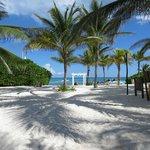 Beach wedding area