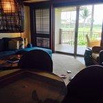 Living room of Golf ocean view 1brm suite