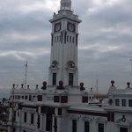el Faro de Veracruz desde mi habitación en el Hotel Emporio