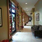 Hallway to spa area.