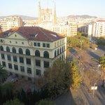 Vista a partir da janela do meu apartamento no hotel.