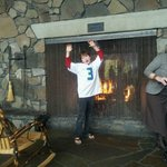 Fun at the Fireplace...Toasty!