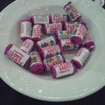 Sweets provided for event delegates
