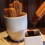 Churos with chocolate dipping sauce