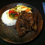 Braised pork ribs with palm sugar
