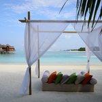 Cabana on the beach.