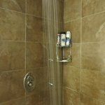 Steam shower with a rain shower head