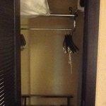 inside of closet