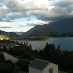 View of Queenstown and Lake Wakatipu from our room