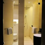 the toilet room and the shower room