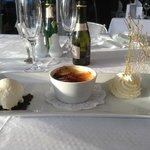 creme brulee from the impressive dessert menu