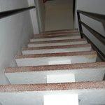 Look up steep stairs