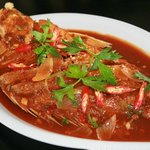 Hot and spicy wonderful fried Red Snapper in Szechuan  Sauce...