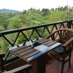Dining area with nice view of rice terrace