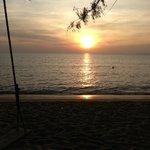 sunset at the OC Beach Club. Otres beach