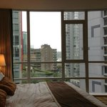 Comfy Bed and wonderful view from the floor to ceiling windows