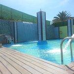Heated swimming pool, one of three pools