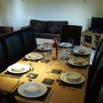 Dining area in lodge