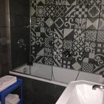 Our amazing bathroom - loved the tiles and spotlights!