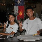 Two of the friendly staff at Mad Bull Bar